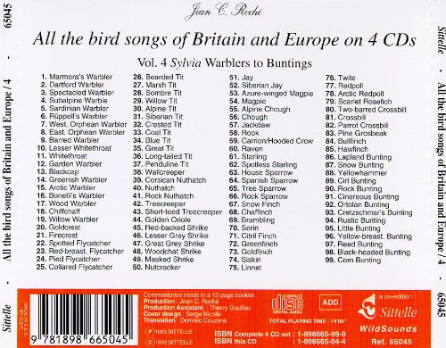 Bird Songs: Britain & Europe, Vol. 4