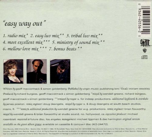 Easy Way Out [CD/Vinyl Single]