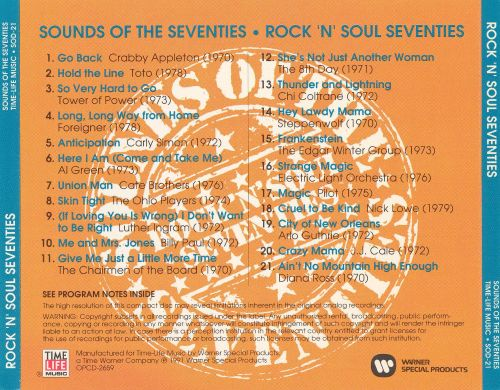 Sounds of the Seventies: Rock 'N' Roll Seventies