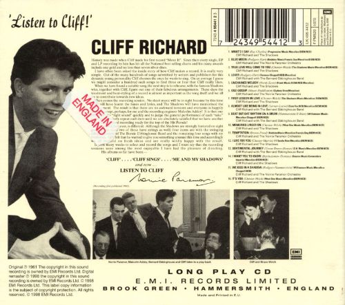 Cliff Sings/Listen to Cliff!