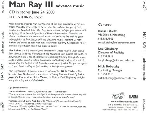 Man Ray, Vol. 3 [Promo]