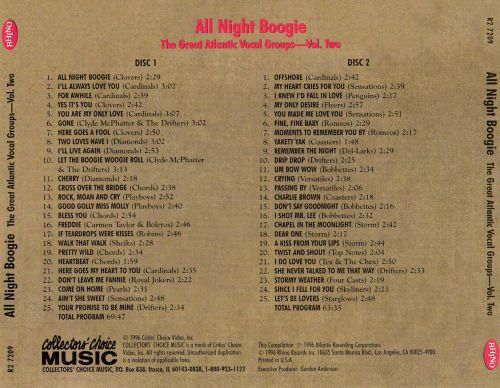 All Night Boogie: The Great Atlantic Vocal Groups, Vol. 2