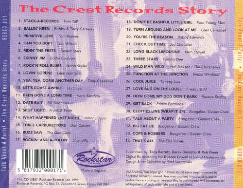 Talk About a Party: The Crest Records Story