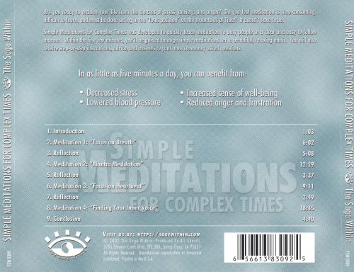 Simple Meditations for Complex Times