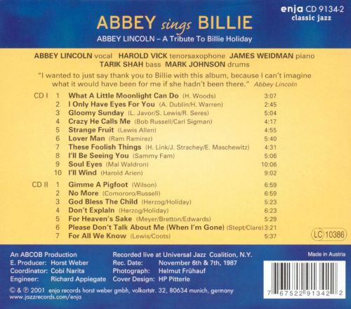Abbey Sings Billie, Vols. 1-2