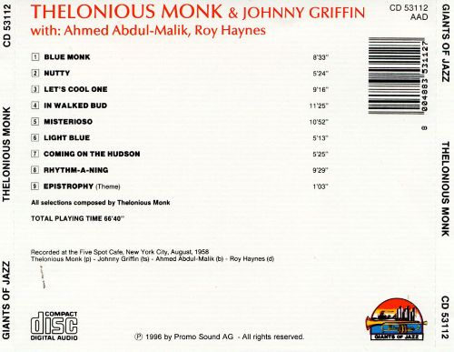 Thelonious Monk & Johnny Griffin