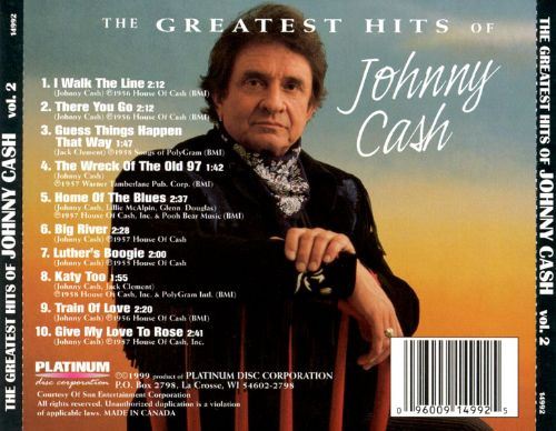 greatest hits of johnny cash vol 2 johnny cash songs reviews credits allmusic. Black Bedroom Furniture Sets. Home Design Ideas