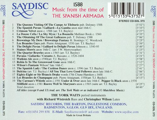 1588 - Music from the Time of the Spanish Armada: The York Waits