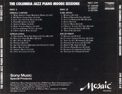 The Columbia Jazz Piano Moods Sessions