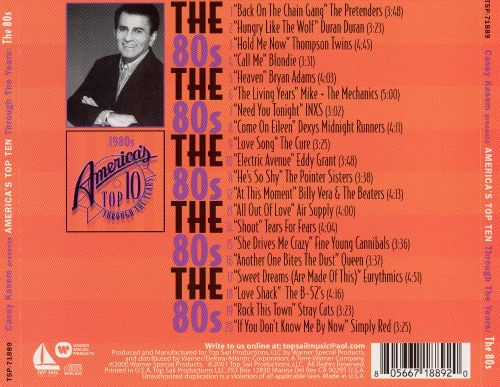 Casey Kasem: America's Top 10 Through Years - The 80's