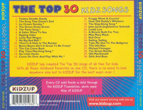 The Top 30 Kidz Songs