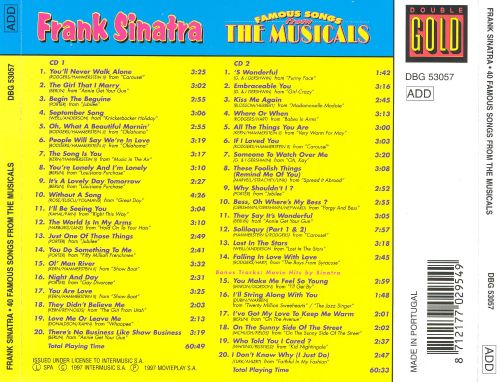 40 Famous Songs from the Musicals