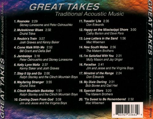 Great Takes: Traditional Acoustic Music
