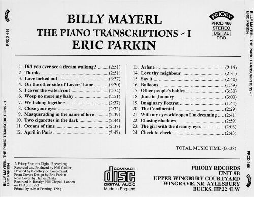 Billy Mayerl Piano Transcriptions, Vol. 1