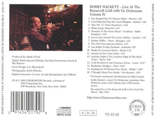 Live at the Roosevelt Grill With Vic Dickenson, Vol. 4