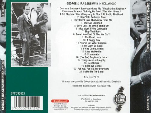 George and Ira Gershwin in Hollywood [The Soundtrack Factory]