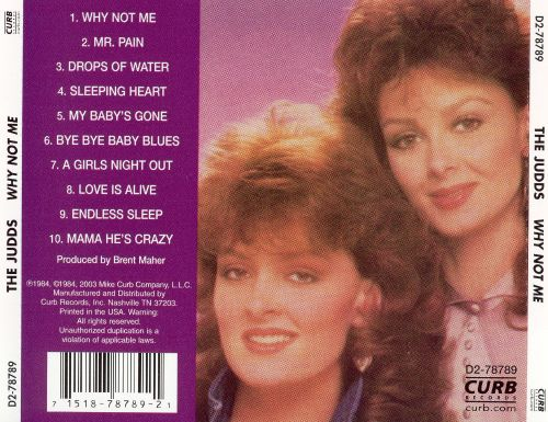 Why Not Me The Judds Songs Reviews Credits Allmusic