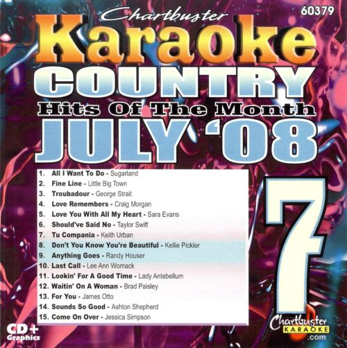 Karaoke: July Country Hits of the Month
