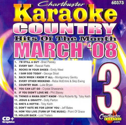 Karaoke: March 2008 Country Hits