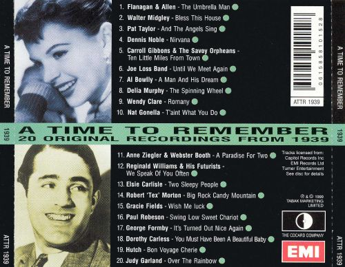 1939: A Time to Remember, 20 Original Recordings