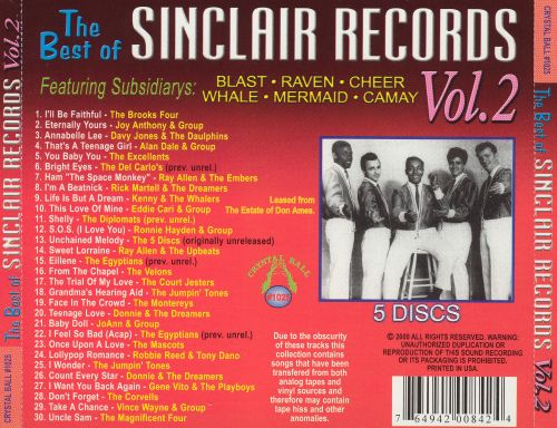 Best of Sinclair Records, Vol. 2