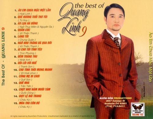 The Best of Quang Linh, Vol. 9