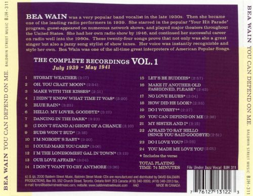 You Can Depend on Me: The Complete Recordings, Vol. 1