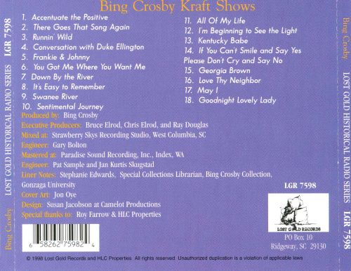Bing Crosby Kraft Shows, Vol. 1