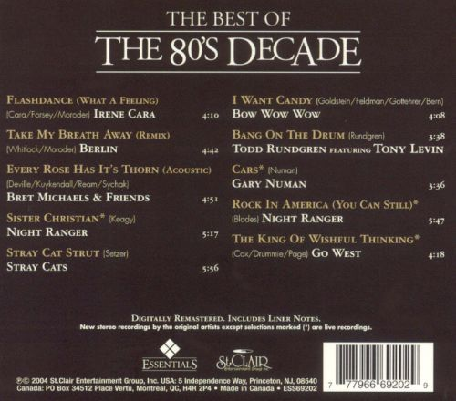 The Best of the '80s Decade