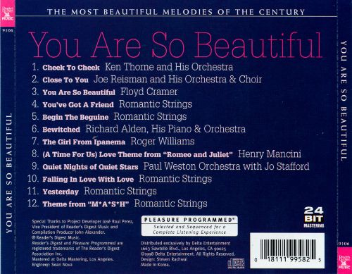 Most Beautiful Melodies of the Century: You Are So Beautiful