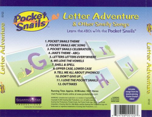 Pocket Snails: Letter Adventure & Other Snaily Songs
