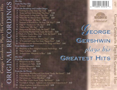 George Gershwin Plays His Greatest Hits