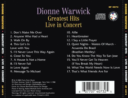 Greatest Hits - Live In Concert