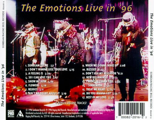 The Emotions Live in '96