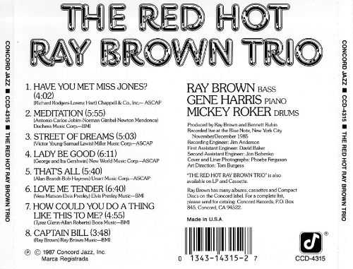 The Red Hot Ray Brown Trio