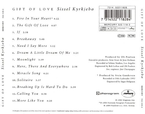 Gift of love sissel songs reviews credits allmusic gift of love gift of love negle Image collections