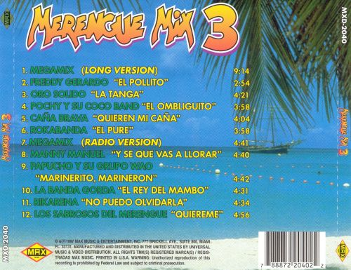 Merengue Mix, Vol. 3