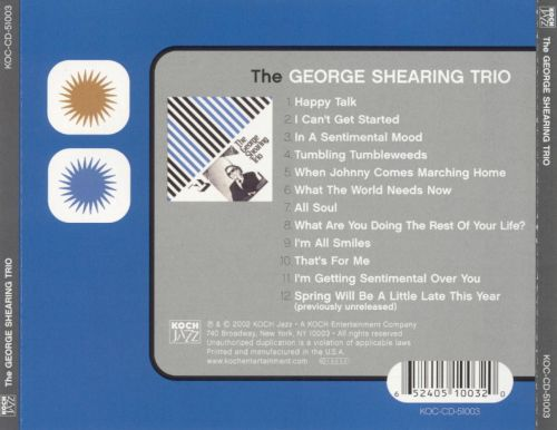 The George Shearing Trio, Vol. 1