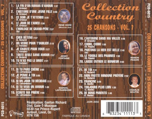 Collection Country: 25 Chansons, Vol. 7
