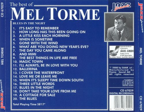 The Best of Mel Torme: Blues in the Night
