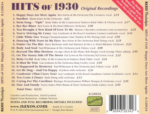 Hits of 1930