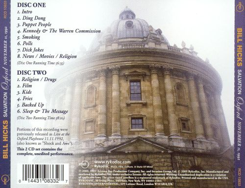 Salvation: Oxford,  November 11, 1992