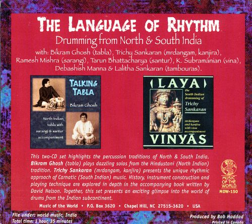 The Language of Rhythm: Drumming from North and South India