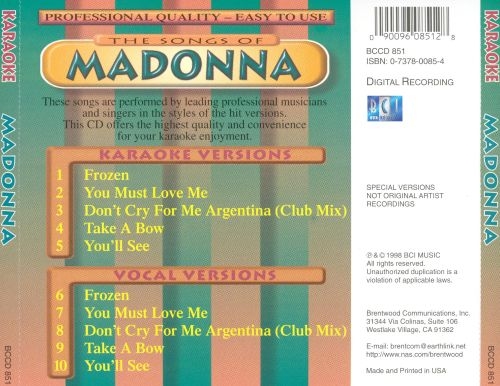 The Songs of Madonna