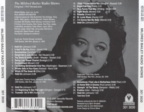 The Mildred Bailey Radio Shows: Original 1945 Broadcasts