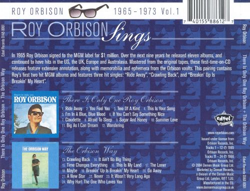 Roy Orbison Sings- 1965-1973, Vol. 1: There Is Only One Roy Orbison/The Orbison Way