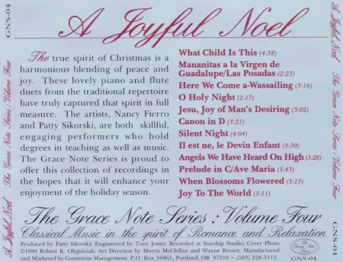 A Joyful Noel: Traditional Christmas Music for Flute and Piano, Vol. 4