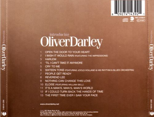 Introducing Oliver Darley