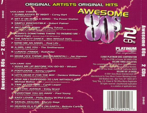 Awesome '80s [2 Disc]