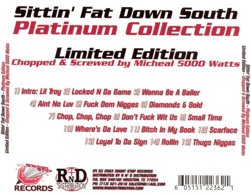 Sittin' Fat Down South: Platinum Collection